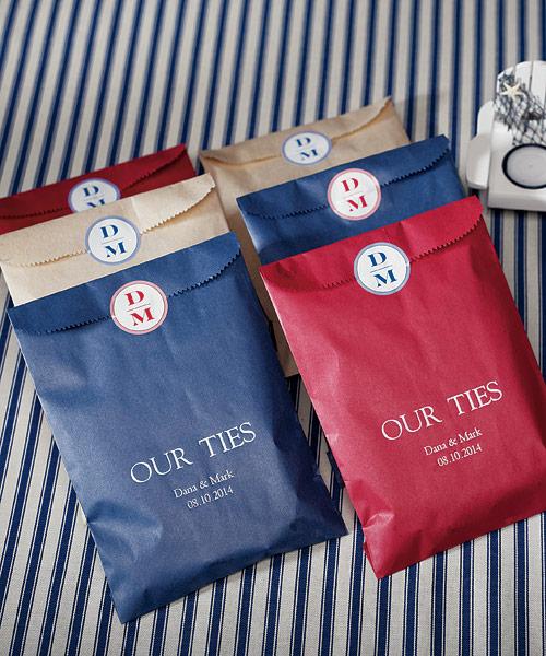 Le sac en papier personnalis pour bonbons ou g teaux - Petit sac en papier pour mariage ...